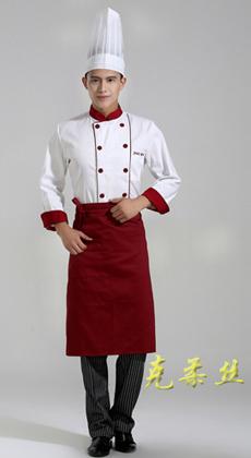 白色立领厨师工作服定做