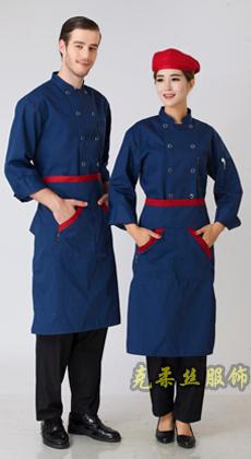 酒店双排扣长袖厨师服订制