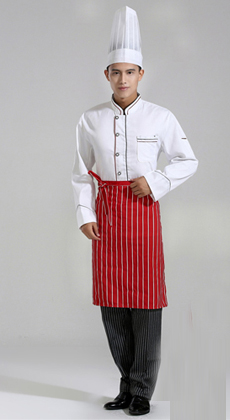 酒店餐厅秋冬款厨师工作服定制厂家