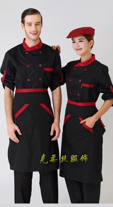 白色长袖厨师服定制厂家