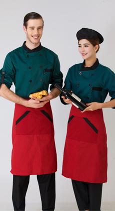 厂家定做厨师工作服长袖 酒店西餐厅厨师制服男女 咖啡厅厨师服棉 食堂厨师工装秋冬