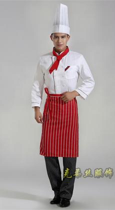 服装厂家定做厨师服长袖 酒店工作服秋冬 饭店餐厅工作服装男女 厨师工作服定做厂家