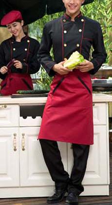 餐厅长袖厨师服定做厂家
