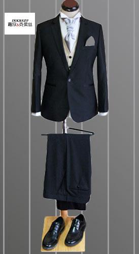 武汉厂家西服定制定做男韩版修身时尚白领套装定做欧美简约修身一粒单排扣西服套装