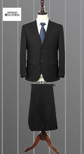 定做春秋时尚韩版修身西装 仿毛两粒扣OL职业西服套装定制商务白领制服