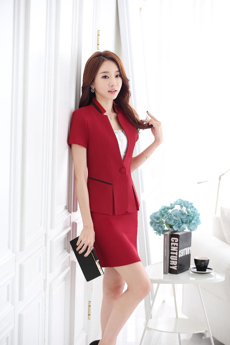 女式短袖高端职业装